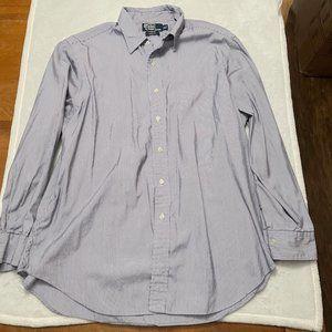 Polo Ralph Lauren Blue and White Dress Shirt